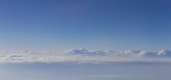 nad cloudscape dramatyczny Fotografia Stock