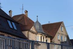 Nad dachami Zdjęcie Stock
