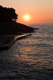 nad denny wschód słońca Obrazy Royalty Free