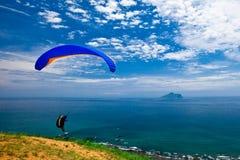 nad dennym niebem błękitny szybowcowy zrozumienie Zdjęcie Royalty Free