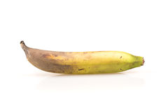 Nad dojrzałym bananem odizolowywającym na białym tle Fotografia Stock