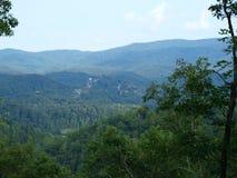 nad dolinnym widok Zdjęcie Stock