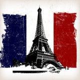 Nad France flaga ilustracyjna wieża eifla Fotografia Stock