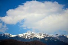 Nad górami Zdjęcia Royalty Free