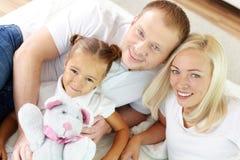 Rodzice i córka obrazy stock