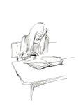 nad książkowa dziewczyna Ilustracji
