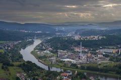 NAD Labem Usti με τον ερχομό θύελλας Στοκ Φωτογραφίες