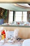 nad lustrzany miejsca położenia stołu ślub Fotografia Stock