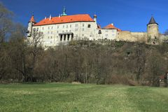 Nad Metuji van Novemesto chateau Royalty-vrije Stock Afbeelding