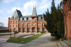 Nad Moravici van Hradec royalty-vrije stock foto's