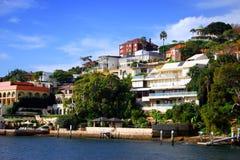 nad morze mieszkaniowy Sydney Fotografia Royalty Free