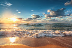 nad morzem piękny cloudscape Zdjęcia Royalty Free