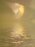 Nad morzem złoty zmierzch Zdjęcie Royalty Free