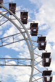 Nad niebieskim niebem Ferris koło Fotografia Royalty Free