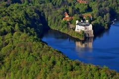 Nad Orlik Vltavou van de manor hause Royalty-vrije Stock Foto's