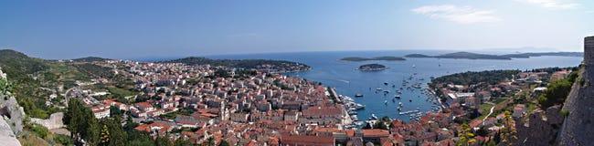 nad panoramicznym portowym widok Zdjęcia Stock