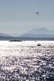 nad paragliding dźwiękiem Zdjęcie Royalty Free