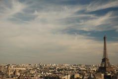 nad Paris widok Zdjęcie Stock