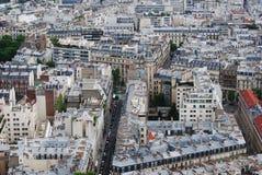 nad Paris wontonem bridżowy pejzaż miejski Obraz Royalty Free