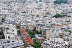 nad Paris wontonem bridżowy pejzaż miejski Obrazy Stock
