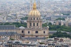 nad Paris wontonem bridżowy pejzaż miejski Zdjęcie Royalty Free