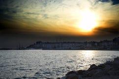 Nad Piraeus Zdjęcia Stock