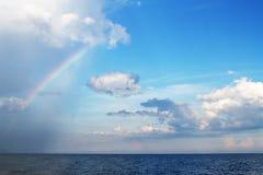 nad podeszczowym morzem Obraz Stock