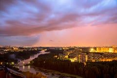 nad poly przodu ogromny Montana burzy thundercloud usa Fotografia Royalty Free