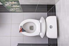 nad pucharu bezpośrednio toaleta zdjęcie stock