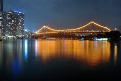 nad rzeczną opowieścią bridżowy Brisbane Zdjęcie Royalty Free