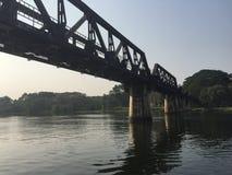 nad rzecznym Thailand bridżowy kwai Obraz Royalty Free