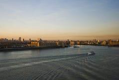 nad rzecznym zmierzchem Thames Obraz Royalty Free