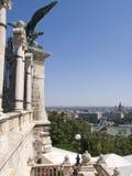 nad rzeką bridżowy łańcuszkowy Danube Zdjęcia Royalty Free