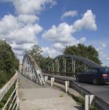 nad rzeką bridżowy żelazo Zdjęcie Stock