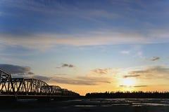 nad rzeką bridżowy Alaska gerstle Zdjęcie Royalty Free