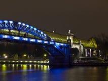nad rzeką bridżowy nożny Moscow Obraz Royalty Free
