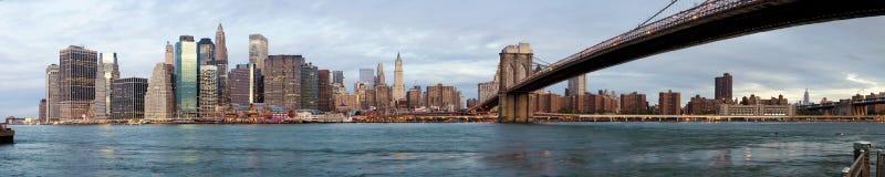 nad rzeką Manhattan wczesny ranek zdjęcia royalty free