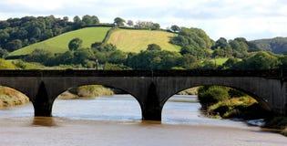 Nad Rzeką kamienny Most Obrazy Royalty Free