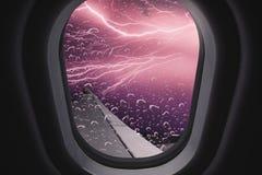 nad samolotowy komarnicy ziemi widok na ocean okno zdjęcia royalty free