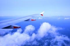 nad samolotowy komarnicy ziemi widok na ocean okno Fotografia Stock