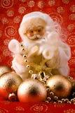 nad Santa czerwonym biel Fotografia Royalty Free