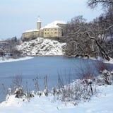 Nad Sazavou van Ledec kasteel Stock Foto's