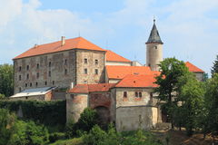 Nad Sazavou van Ledec kasteel Stock Foto