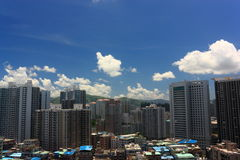 nad Shenzhen niebem Fotografia Stock
