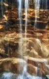 nad skały siklawą Fotografia Stock