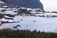 Nad Skokom van het meer (boven de waterval Skok) Royalty-vrije Stock Afbeeldingen