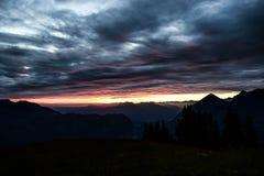 nad sunset szwajcarami alpy Obraz Stock