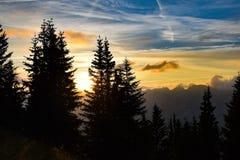 nad sunset szwajcarami alpy Obrazy Royalty Free