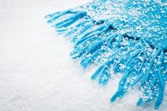 nad szalika śniegiem Zdjęcie Royalty Free