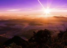 2195 nad teren jako chiang rożka dao wykoślawienia gromadzki doi wysokich przestawnych równych wapnia luang metrów halnych gór sz Fotografia Royalty Free